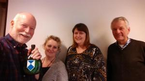 Den norske Blue Shield  komiteen. Fr.v.: Leif Pareli, Mariann Schjeide, Kari Ansnes og Axel Mykleby.